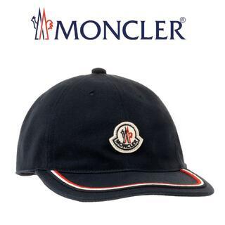 モンクレール(MONCLER)の20 MONCLER ネイビー ロゴワッペン 帽子 ベースボールキャップ(キャップ)