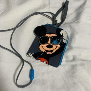 ディズニー(Disney)のミッキー コインケース パスケース(キャラクターグッズ)