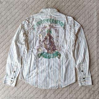ニーキュウイチニーキュウゴーオム(291295=HOMME)の291295=HOMME  マリア像箔プリントストライプシャツ(シャツ)