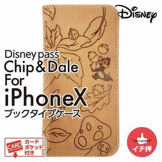 ディズニー(Disney)のDisney ブックタイプケース チップとデール iPhone X 新品(iPhoneケース)