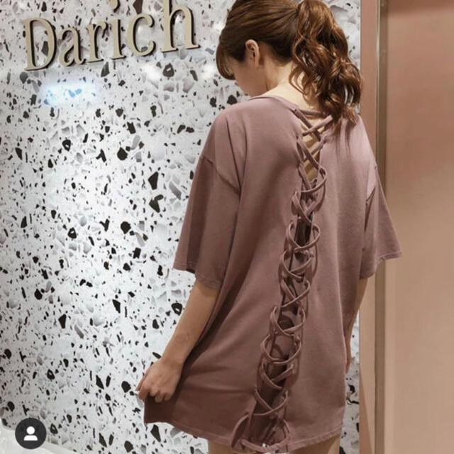 eimy istoire(エイミーイストワール)のDarich  新宿店限定 バックスピンドルTシャツ レディースのトップス(Tシャツ(半袖/袖なし))の商品写真