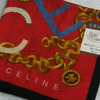 celine - セリーヌ☆大判ハンカチーフ58×58