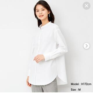 GU - バンドカラーロングシャツ(長袖)   GU