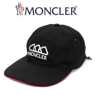 モンクレール(MONCLER)の21 MONCLER ブラック ロゴ 帽子 ベースボールキャップ 男女兼用(キャップ)