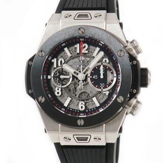ウブロ(HUBLOT)のウブロ  ビッグバン ウニコ チタニウム セラミック 411.NM.11(腕時計(アナログ))