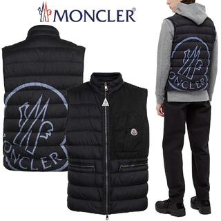 モンクレール(MONCLER)の14 MONCLER ネイビー ナイロン ロゴ ダウンベスト size 1(ダウンベスト)
