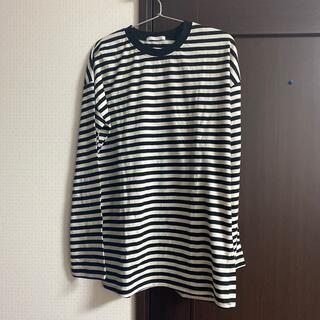 スピンズ(SPINNS)のボーダービッグカットソー(Tシャツ(長袖/七分))