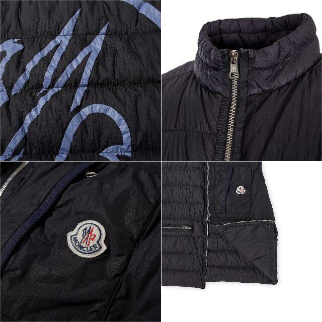 MONCLER(モンクレール)の14 MONCLER ネイビー ナイロン ロゴ ダウンベスト size 4 メンズのジャケット/アウター(ダウンベスト)の商品写真