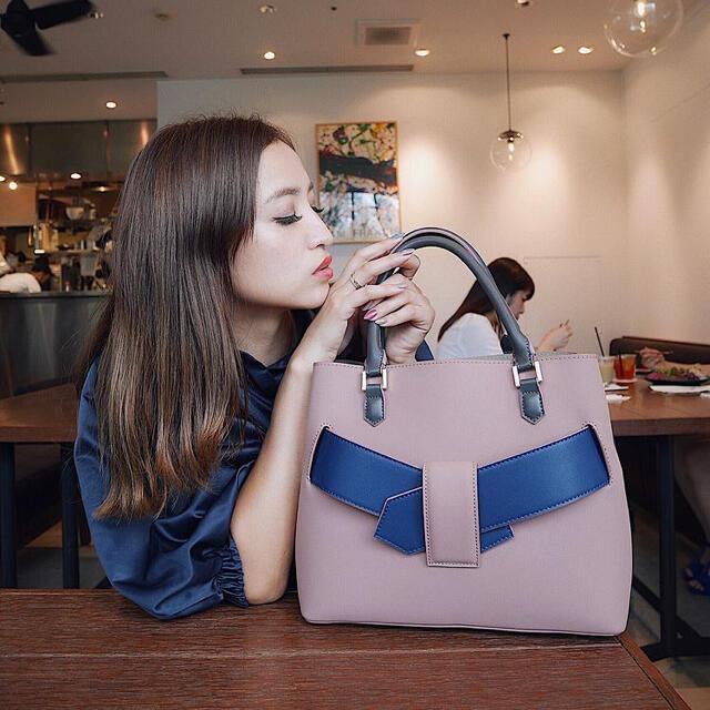 rienda(リエンダ)のレオリー♡配色ベルトBAG♡ レディースのバッグ(ハンドバッグ)の商品写真