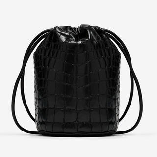 エムエムシックス(MM6)のMM6 マルジェラ ロゴ バケットバッグ ショルダーバッグ クロコダイル(ショルダーバッグ)