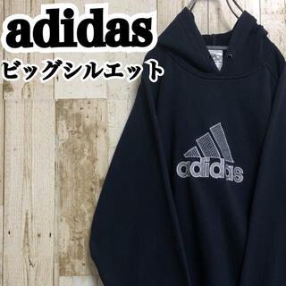 adidas - 【アディダス】【ビッグロゴ】【ロゴ刺繍】【ゆるダボ】【プルオーバー】【パーカー】