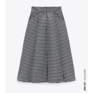 ZARA - 新品未使用 タグ付き ZARA ギンガムチェックフレアスカート