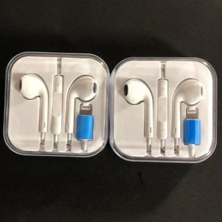 アイフォーン(iPhone)のiPhone イヤホン ライトニングケーブル Bluetooth 2個(ヘッドフォン/イヤフォン)
