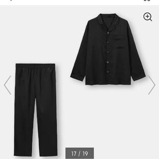 GU - GU 新品 タグ付き サテン パジャマ 長袖 ブラック L
