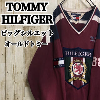 トミーヒルフィガー(TOMMY HILFIGER)の【トミーヒルフィガー】【ビッグロゴ】【全刺繍】【厚手ラガーT/スウェット】(スウェット)
