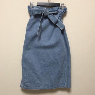 ジーユー(GU)のGU デニムロングタイトスカート(ロングスカート)
