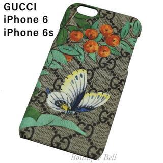 グッチ(Gucci)の【GUCCI】グッチ GG柄 ティアン バタフライ iPhone6/6s(iPhoneケース)
