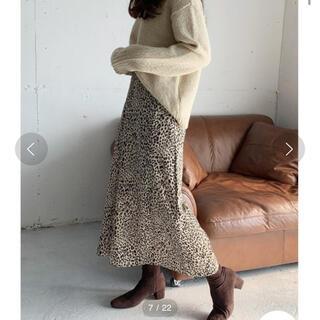 アイスー(i-SOOK)のISOOK レオパード柄ロングフレアスカート(ロングスカート)