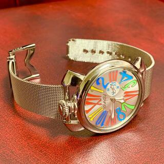GaGa MILANO - 美品! ガガミラノ  マニュアーレ46 メンズ クオーツ 腕時計