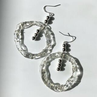 large bubble pierce/ earring