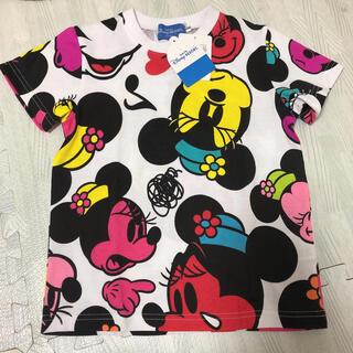 Disney - 新品 ディズニー ミニー総柄 Tシャツ 110