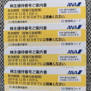 【即通知】ANA 株主優待 4枚セット(航空券)