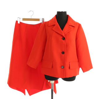 マルニ(Marni)のマルニ セットアップ上下 ジャケット 七分袖 スカート ロング フレア 38 赤(その他)