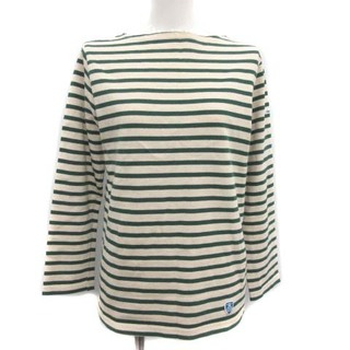 オーシバル(ORCIVAL)のオーチバル オーシバル Tシャツ カットソー 長袖 1 S アイボリー 緑(カットソー(長袖/七分))