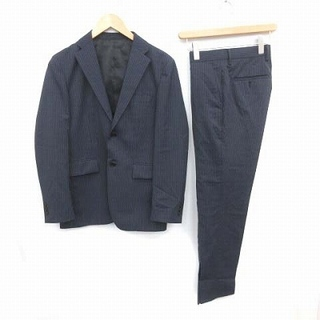 エディフィス(EDIFICE)のエディフィス 18AW スーツ セットアップ ジャケット パンツ S 紺(スーツジャケット)
