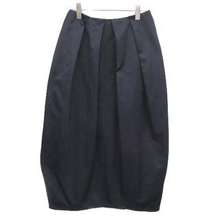 ENFOLD - エンフォルド 20AW ヘビーサテン ペタルSK スカート ロング 38 紺
