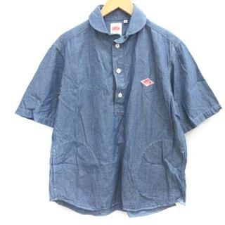 ダントン(DANTON)のダントン DANTON 40 L シャツ プルオーバー ラウンドカラー 青  (シャツ)