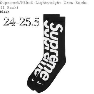 シュプリーム(Supreme)のsupreme nike socks black 24-25.5 新品未使用(スニーカー)