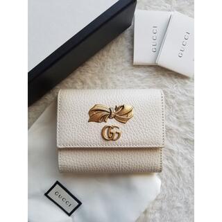 Gucci - GUCCI グッチ Petite Bow French 2つ折り財布