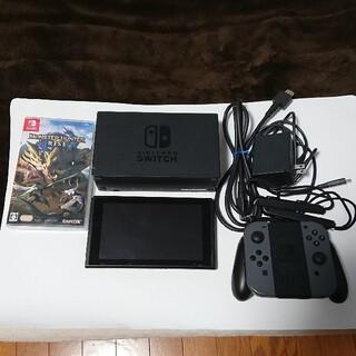 ニンテンドースイッチ(Nintendo Switch)の任天堂Switch+モンハンライズ  中古(家庭用ゲーム機本体)