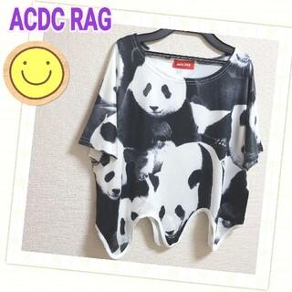 エーシーディーシーラグ(ACDC RAG)の☆ ACDC RAG パンダ柄Tシャツ(Tシャツ(半袖/袖なし))
