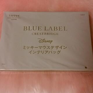 ミッキーマウス(ミッキーマウス)のsweet付録BLUELABELミッキーマウスデザインインテリアバッグ(その他)