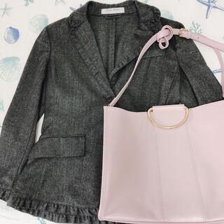 ミュウミュウ(miumiu)の【専用】miumiu ジャケット、made in Italy 本革ピンクバッグ(テーラードジャケット)