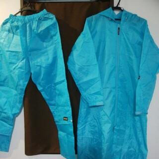 outdoor 軽量コンパクトレインコート+ズボン (ナイロンジャケット)