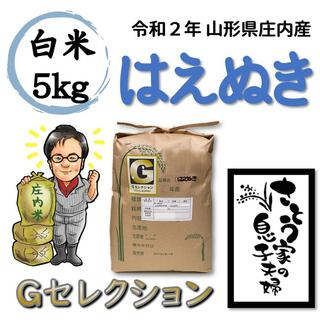 令和2年 山形県庄内産 はえぬき 白米5kg Gセレクション(米/穀物)