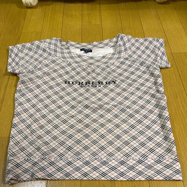 BURBERRY(バーバリー)のバーバリーロンドン ノバチェック ロゴ カットソー Tシャツ レディースのトップス(Tシャツ(半袖/袖なし))の商品写真