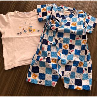 ミキハウス(mikihouse)のミキハウス甚平 ファミリアtシャツおまけ付き(甚平/浴衣)