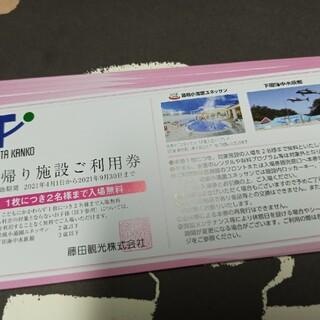 最新 藤田観光株主優待 日帰り施設ご利用券 15枚(遊園地/テーマパーク)