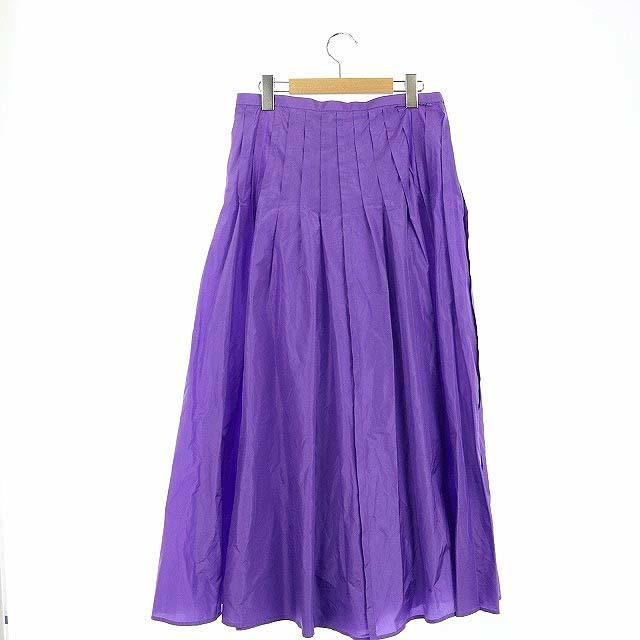 ブラミンク 20SS R S GATHER SKT スカート ロング 38 紫 レディースのスカート(ロングスカート)の商品写真