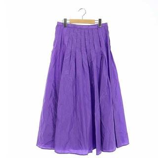 ブラミンク 20SS R S GATHER SKT スカート ロング 38 紫