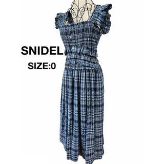snidel - SNIDEL スナイデル ワンピース シャーリング チェック ブルー