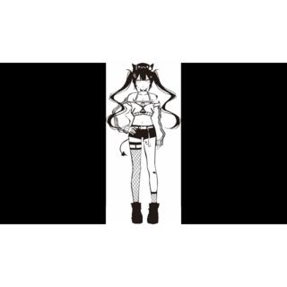 【ホロライブ】(常闇トワ)カッティングステッカー(その他)