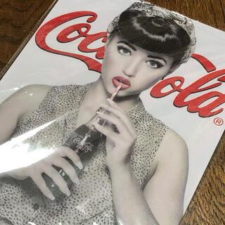コカコーラ(コカ・コーラ)のコカコーラ ドリンキング ブリキ看板(ソフトドリンク)