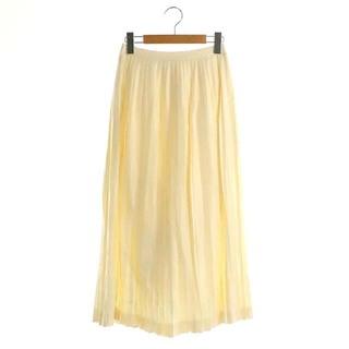 サイ(Scye)のサイ SCYE シルクウールサージロングプリーツスカート 36 アイボリー(ロングスカート)