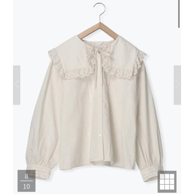 ehka sopo(エヘカソポ)の綿レースセーラー衿ブラウス レディースのトップス(シャツ/ブラウス(長袖/七分))の商品写真