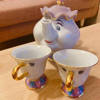 Disney - Disney ポット夫人 チップ ティーセット